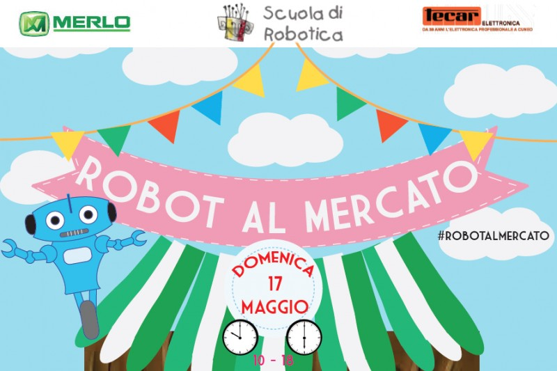 Cuneo, May 17th 2015.Robots at Cuneo City Market!